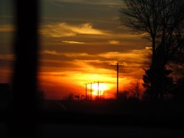 Street poles in sun set by A-Nicholie-pics