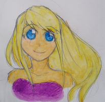 FMA: Winry Watercolor by Meylaite