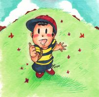 Thumbs up Ness by tunetherainbow