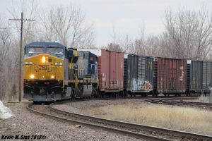 CSXT Q233 with fresh painted engine taking a curve by EternalFlame1891