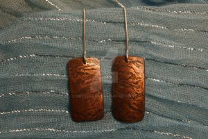 Wave etched copper earrings by ArtsyShan