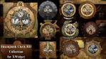 Steampunk Clock HD Collection for xwidget (HOT) by Jimking