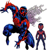 Redesign Forgotten Marvel Heroes - Spider-Man 2099 by therealOrkie