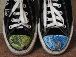 Better look at my MH converse by kinokashi