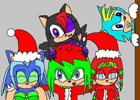 Xmas Pals: 1st group piccy by PhoenixManX-XL