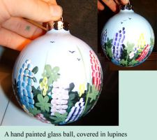painted glass ball num1 by Jadetiger