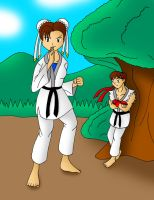 Ryu's new apprentice by streetgals9000