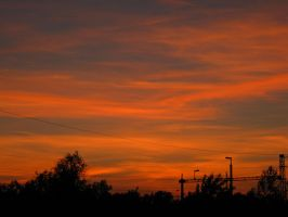 The sky is burning by sztewe
