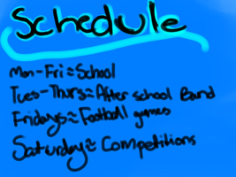 My Schedule [Gonna try to put art up] by Frozen-Icicles