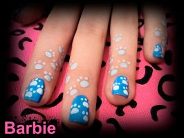 Footprint Nails by BarbieNailArt