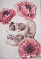 Poppy Skull by Pauyarte