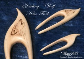 Howling Wolf Hair Fork by 5Happy5