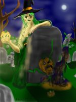 The Witch of the Jack O'Lantern Returns by dhbraley