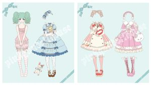 Sweet Lolita Paper Dolls by liveloveburndie