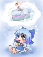 Happy Birthday Cirno 9.9.09 by MARKCW