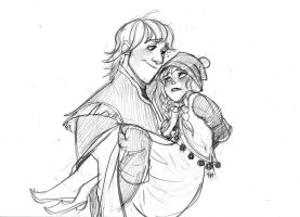 Kristoff and Anna by zPePhungz
