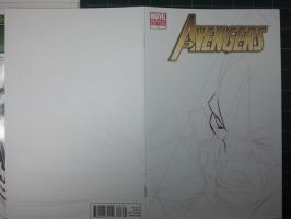 AVENGERS Sketch Cover: Wolvie Step 01 by jerkmonger