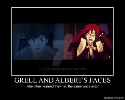 Albert de Morcerf / Grell Sutcliff demotivational by Lalottered