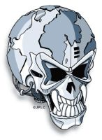 World skull by Leconte