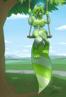 Spearmint - Swing [Commission] by FicusArt
