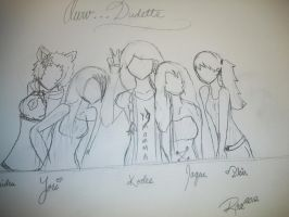 WIP - Aww Dudette Group by xRaeylx