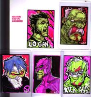 commision sketch cards oct2010 by HEROBOY