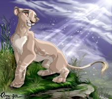 Cinn the lioness by OmegaLioness