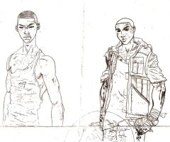 George and Ace sketch by Young9tradition