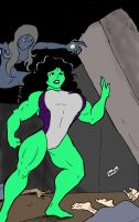 She Hulk in Danger by wyattx
