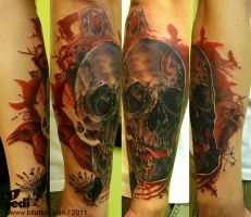 Skull and crows by Pedi