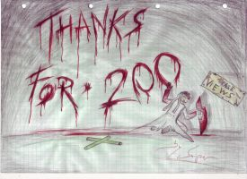 THAKS FOR 200 PAGEVIEWS by killermedic