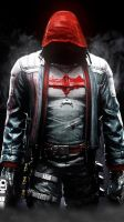 RED HOOD ARKHAM KNIGHT by JPGraphic