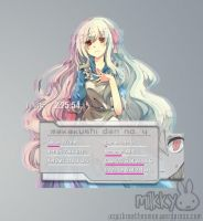 Rainmeter: Marry Kozakura by milkkybunny