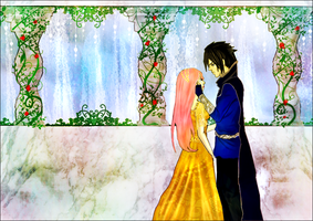 Quietus Ch. 45: SasuSaku Waterfall Kiss by ariadnia