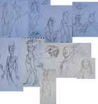 rough sketches from the school by LammaiAeran