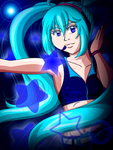 Vocaloid Miku Digital ACEO Card by TaCDLunaria91