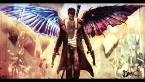 DmC: Devil May Cry - Dante with Wings by kampinis