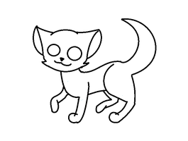 more cat lineart by PiperMagician