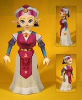 Zelda Papercraft by Drummyralf