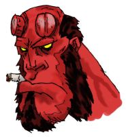 hellboy color test by Bokor