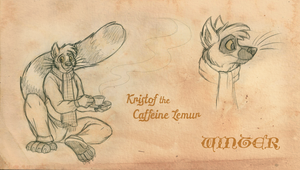 Kristof the Caffeine Lemur: Winter by tymime