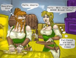 Beard or No Female Dwarves by humbledwarf
