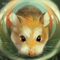Hampster SpeedPaint by GoldenDruid
