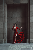 Lady in red II by Tikal-SH