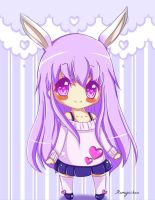 Purple Bunny ( contest entry for  eubasta) by Flamyxchan