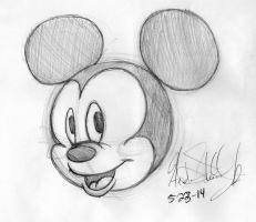 Mickey Mouse Attempt by SpyroShurtagul