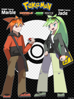 PKMN Trainers Marble and Jade by Dragonith
