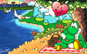 Lovely times on Yoshi's Island [Comm. Hime--Nyan] by GreenYoshi25