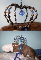 Gothic Lolita beaded crown by hinode