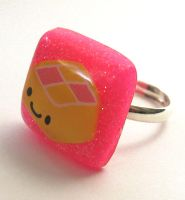 Cute Battenberg ring by BazaarHereToday